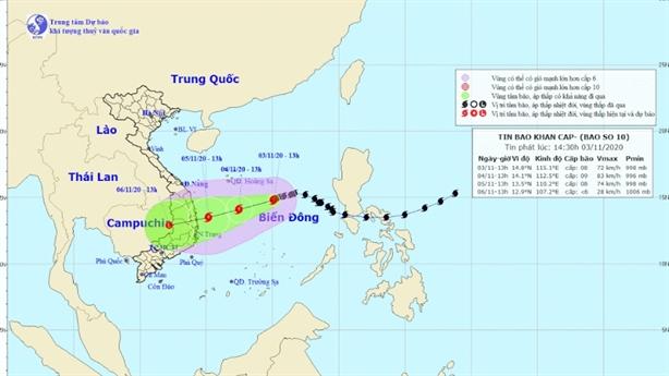 Từ ngày 4/11, mưa bão trút xuống Quảng Nam đến Bình Định