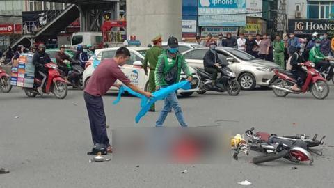 Tài xế xe tải tông phụ nữ tử vong rồi bỏ chạy