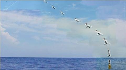 Tàu ngầm Pháp phóng UAV từ độ sâu 100m
