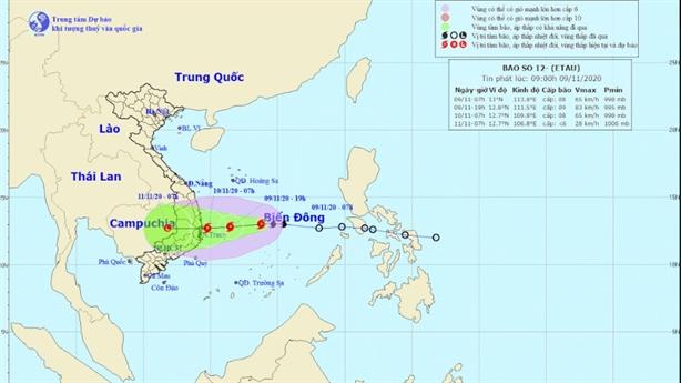 Áp thấp nhiệt đới mạnh lên thành bão số 12