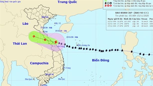 Đang mưa to diện rộng ở Trung Bộ sau bão