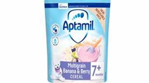 Thu hồi bột ngũ cốc Aptamil do chứa mẩu nhựa màu xanh
