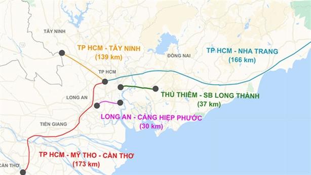 TP.HCM đề xuất làm 5 tuyến đường sắt tốc độ cao