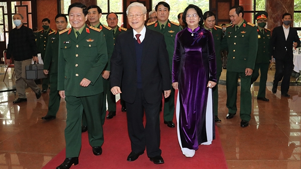 Tổng Bí thư dự Hội nghị Quân chính toàn quân