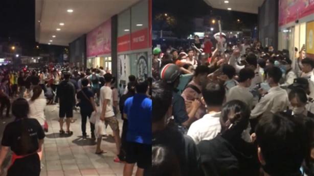 Hỗn chiến ở Aeon Tân Phú do chặn bán hàng đa cấp?