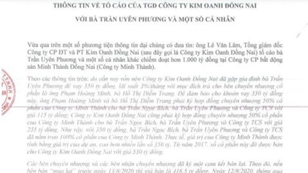 Luật sư mổ xẻ thương vụ M&A Minh Thành Đồng Nai