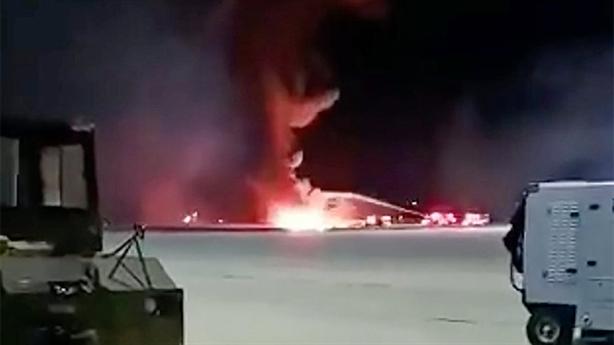 F-16 Mỹ rơi khi mang đạn thật