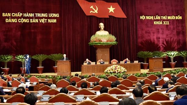 Ngày làm việc thứ nhất của Hội nghị Trung ương 14