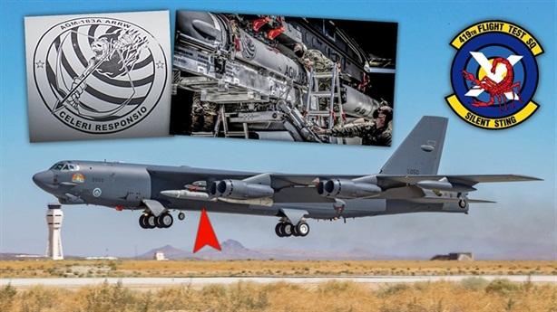 Tên lửa siêu thanh AGM-183A dính chặt B-52H khi phóng