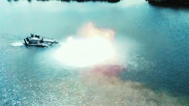Tăng Sprut-SDM1 Nga diệt mục tiêu như chiến hạm