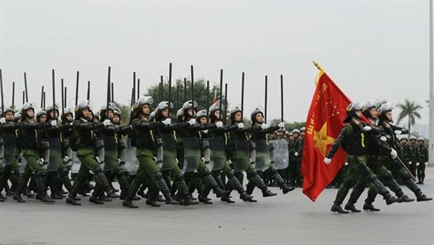 Lễ xuất quân bảo vệ Đại hội XIII của Đảng