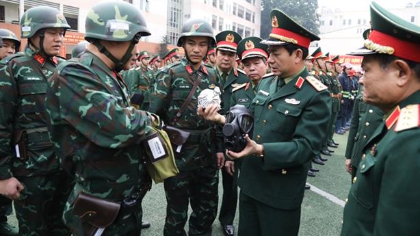 Các lực lượng ra quân bảo vệ Đại hội XIII của Đảng