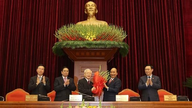 Ông Nguyễn Phú Trọng tái đắc cử Tổng Bí thư khóa XIII