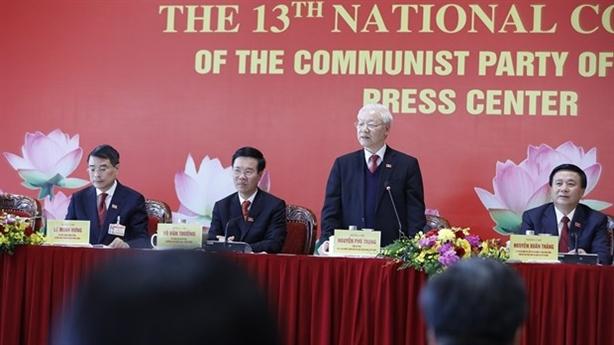 Tổng Bí thư chủ trì họp báo sau Đại hội Đảng XIII