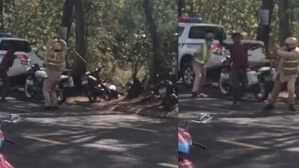 Người đàn ông vác dao chém loạn vào tổ CSGT