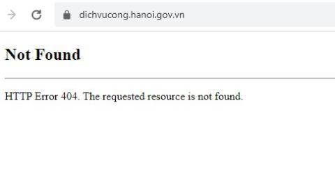 Dịch vụ công Hà Nội không truy cập được: Ngoài mong muốn