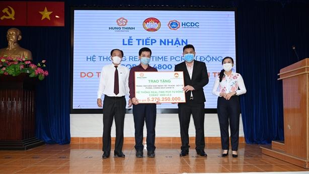 Hưng Thịnh tặng máy xét nghiệm gần 5,3 tỷ đồng cho TP.HCM