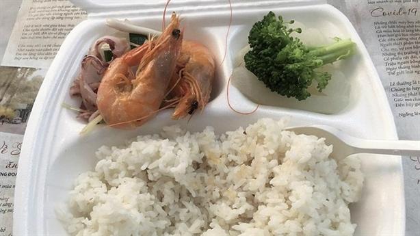 Nghi bữa ăn bị cắt xén trong khu cách ly: Giải thích