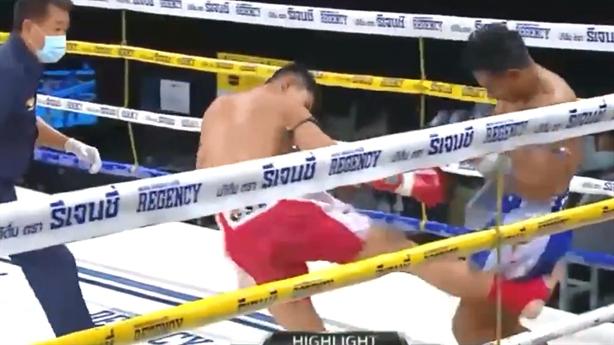 Pha knockout đối thủ bằng cú đá vào đùi