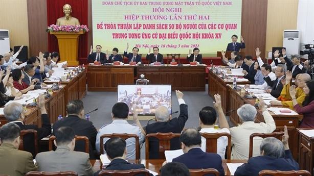Khối Chính phủ giới thiệu 15 người ứng cử Quốc hội