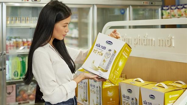 Vinamilk xuất khẩu sữa tươi tổ yến đi Singapore