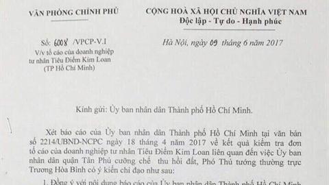 Phó Thủ tướng chỉ đạo giải quyết vụ khiếu nại tại TP.HCM