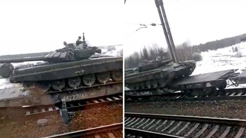 Nga điều xe tăng từ Siberia đến biên giới Ukraine