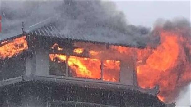 Đỉnh tháp khách sạn Đồng Khánh bốc cháy: Nhân chứng kể gì?