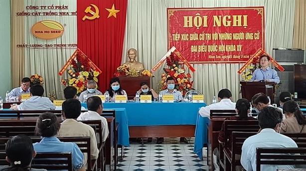 TSKH Phan Xuân Dũng tiếp xúc cử tri huyện Ninh Sơn