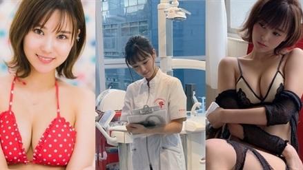 Nữ nha sĩ Nhật bỏ nghề làm người mẫu quá gợi cảm