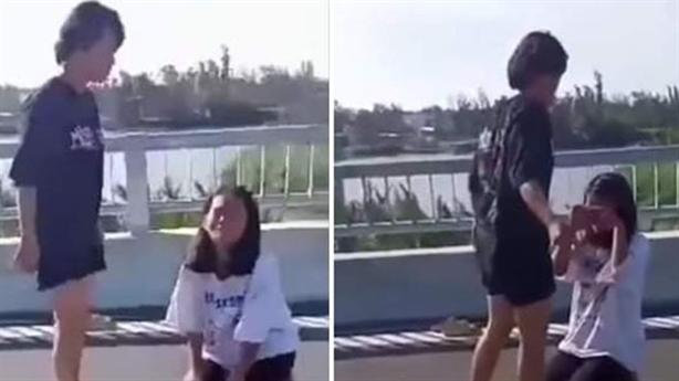 Nữ sinh bị lột đồ trên cầu: Qùy xin cũng không tha