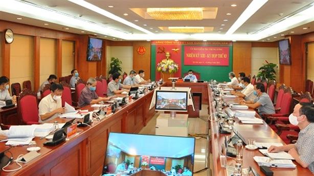UBKT Trung ương kết luận kỳ họp thứ 3
