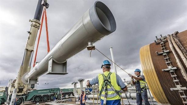 Các tàu Nga thi công Nord Stream-2 trên vùng biển Đức