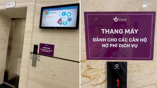 'Thang máy dành cho các căn hộ nợ phí dịch vụ'