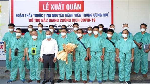 Dồn sức hỗ trợ Bắc Giang, Bắc Ninh chống dịch