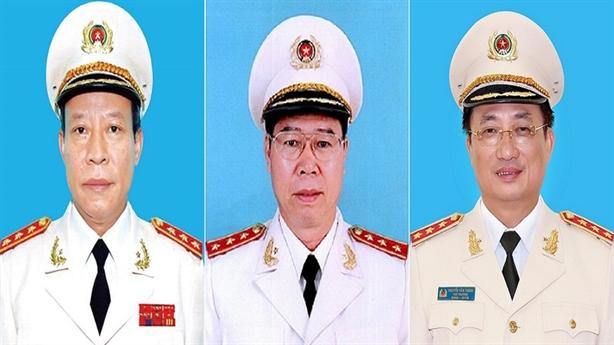 Ba thượng tướng công an thôi giữ chức thứ trưởng