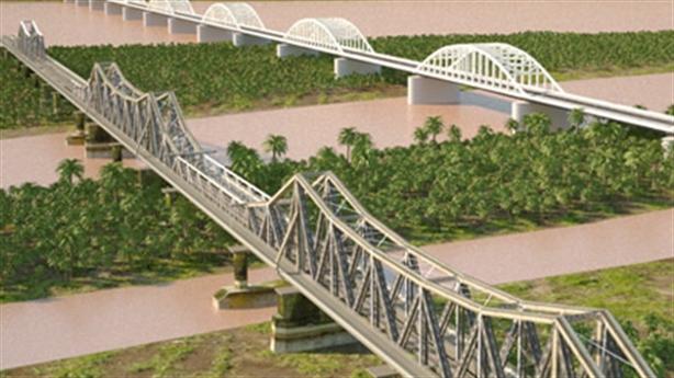 Đề xuất làm đường sắt vượt sông Hồng