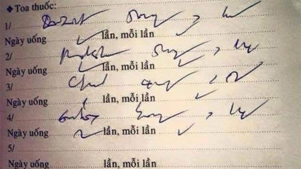 Thanh tra Bộ: Bác sĩ viết ngoáy, viết tắt, tẩy xóa