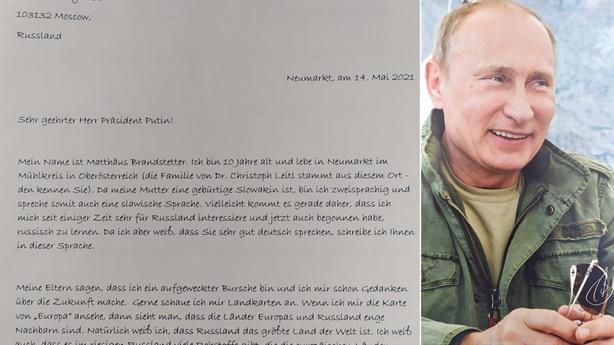 Cậu bé Áo viết thư cho ngài Putin: Đừng mất niềm tin